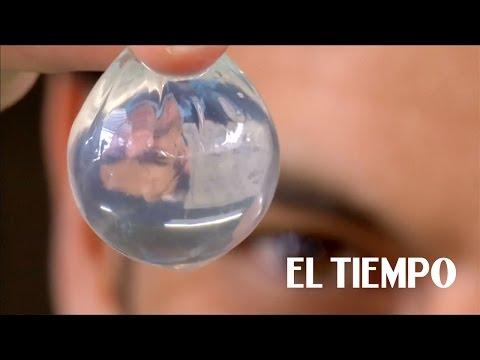 Las 'burbujas' de agua que buscan reemplazar a las botellas plásticas