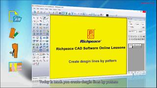 Richpeace CAD Software Online Lessons-Tip of the day-create design lines by pattern (V10)
