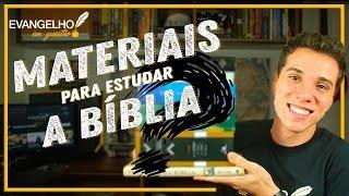 O QUE USAR NA HORA DE ESTUDAR A BÍBLIA - Saor Lucena