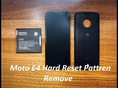 Moto E4 Hardreset Pattren Unlock 2020