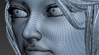 Girl Modeling 3D (time Lapse)