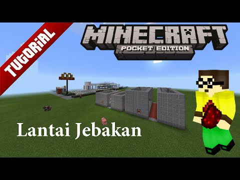 Video Cara Buat Lantai Jebakan Di Minecraft PE [0.15.0] - Redstone Tutorial #1