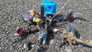 FPV battery flying off while attempting a ROLL- FPV learning mistakes|secure battery properly