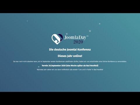 JoomlaDay Deutschland 2020 - Track 1