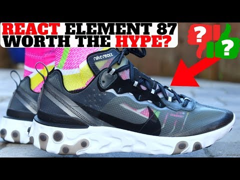 45ce797e8d88 Nike REACT ELEMENT 87 First Thoughts Review! Worth The HYPE  - Hes Kicks