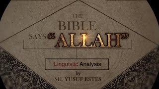 'Allah' in the Bible... Really??