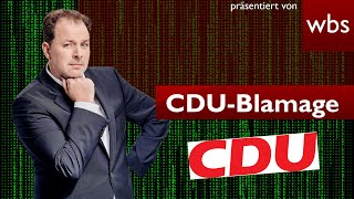 CDU-Blamage: Erst CCC-Hackerin angezeigt - Jetzt droht DSGVO-Bußgeld   Anwalt Christian Solmecke