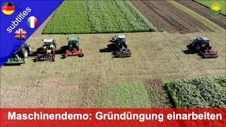 Machine demo: Incorporating green manure with rotary tillers and pulled machines