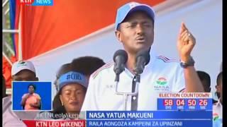 Mgombea urais Raila Odinga aongoza vigogo wa NASA katika kampeini eneo ya Makueni