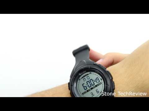 Unboxing SunJas 5ATM Wasserdicht Sport Armbanduhr Fashion Men LCD Digital Stoppuhr Chronograph