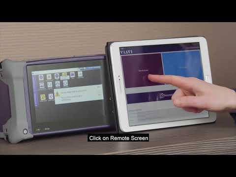 Video: Viavi Smart Access Anywhere demonstration for the Viavi OTDR