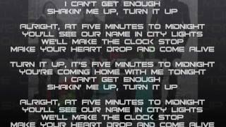 Boys Like Girls~Five Minutes To Midnight Lyrics {HD}