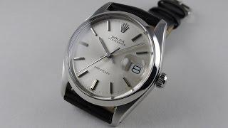 Steel Rolex Oyster Date Precision Ref. 6694 vintage wristwatch, circa 1982