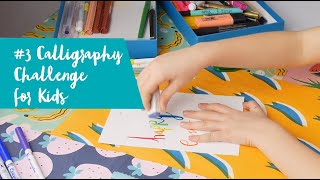 Kids Calligraphy Easter Card Challenge