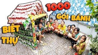 Tony | Xây Biệt Thự Bim Bim Khổng Lồ - Build Villa With 1000 Package Of Cakes