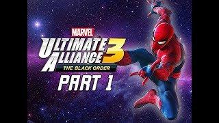 Marvel Ultimate Alliance 3 The Black Order Walkthrough Part 1 - Spider-Man & Infinity Stones