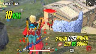OP 2 AWM Ajjubhai94 Duo vs Squad Total Gaming Gameplay - Garena Free Fire