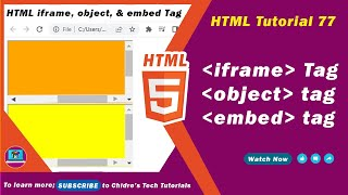 HTML video tutorial - 77 -  iframe tag vs object embed tags