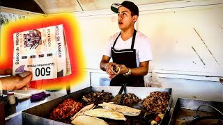 Young Taquero Recieves $100 Tip From My SUBSCRIBERS!!!  ULTIMATE Mexican Street Food Tacos