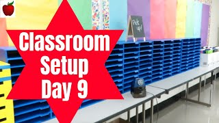Classroom Setup Day 9 Teacher Vlog High School Teacher