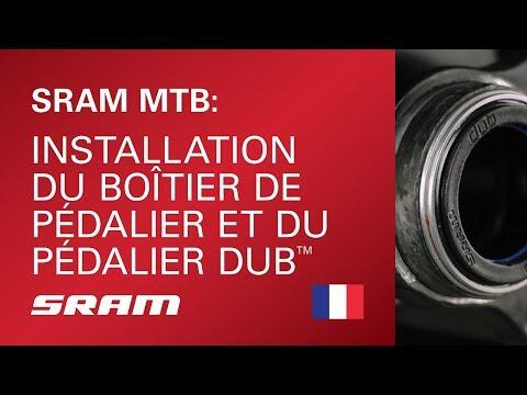SRAM MTB : Installation du boîtier de pédalier et du pédalier DUB