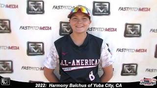 2022 Harmony Balchus First Base and Catcher Softball Skills Video - All American Mizuno