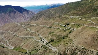 Tibet's stunning 'Nu Jiang 72 Turns' along Sichuan-Tibet Highway