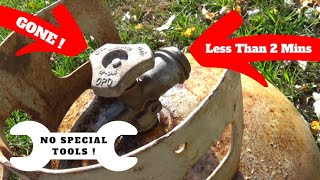 Remove Propane Tank Valve in 2 Minutes (No Special Tools)