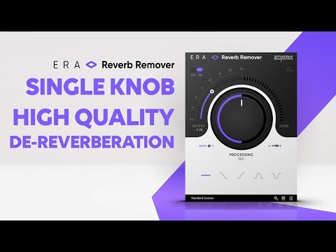 ERA Reverb Remover | Reduce Excessive Reverb and Room Echo from your Audio Recordings