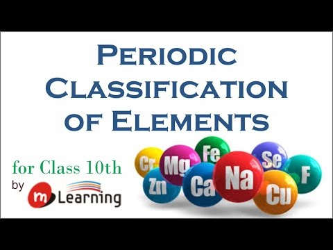 Periodic Classification: Dobereiner's Triods Law, Newland's Octate Rule & Mendleev's Table - 01/05