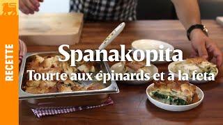 Spanakopita - Tourte Aux épinards Et à La Feta