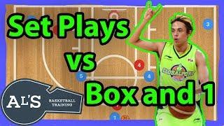 Set Basketball Plays vs Box and 1 Zone Defense