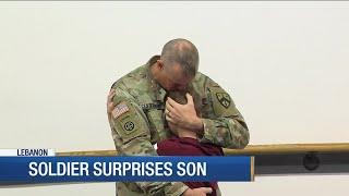 Soldier Surprises Son At Taekwondo Practice