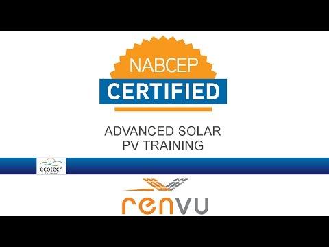 Ecotech Advanced Solar PV NABCEP Prep Course - RENVU ...