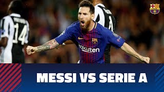 Some of the greates goals of Messi against Italian teams