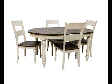 Jofran Madison County Oval Dining Table & 4 Chairs