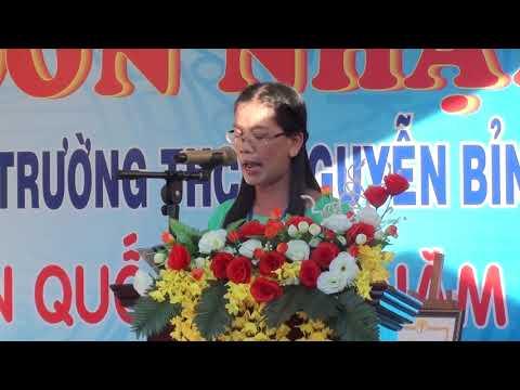 Phát biểu của hiệu trưởng trường THCS Nguyễn Bỉnh Khiêm