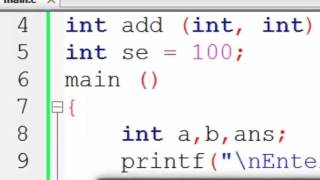 119. Local and Global Variable in C Programming (Hindi)