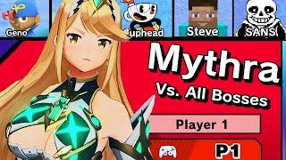 Mythra Vs. All Bosses in Super Smash Bros Ultimate + Cutscenes | DLC Update (11.0.0)