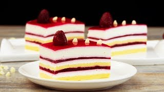 Самый легкий и очень вкусный десерт - пирожное с муссом из белого шоколада и малиной! | Appetitno.TV