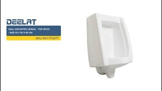 Wall-Mounted Urinal – Top Spud - Size 33 x 35 x 63 cm     SKU #D1774077
