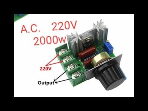 Regulador de corriente alterna  220v 2000w