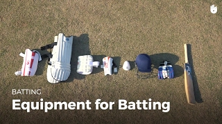 Learn the Equipment Used for Batting | Cricket - YouTube