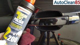 Lackkratzer entfernen / Kratzer in Türgriffmulden polieren / Auto von Hand polieren