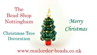 Swarovski Right Angle weave Christmas Tree