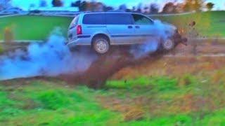 Mini Van HUGE JUMP!!!