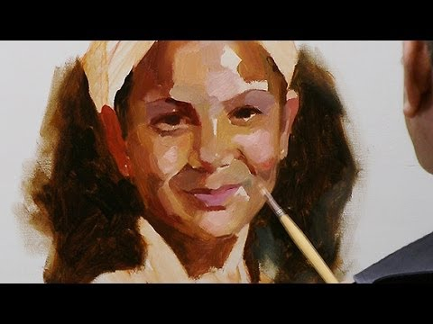 How to paint a portrait in oil paint. Summary of the long video.