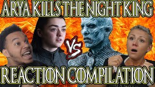 Game Of Thrones Season 8 Episode 3| Arya Kills The Night King Reaction Compilation