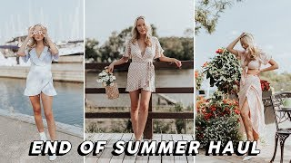 END OF SUMMER HAUL (Casetify, Zara, Princess Polly, Lulu's, Revolve, Topshop...) | GwenGwizEtc
