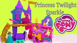 MLP Princess Twilight Sparkle Crystal Palace Castle Playset My Little Pony Toy Unboxing Review